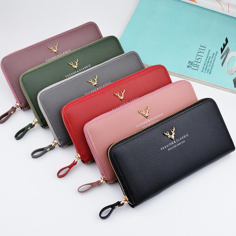 Women Leather Clutch Long Wallet Credit Card Holder High Capacity Purse New