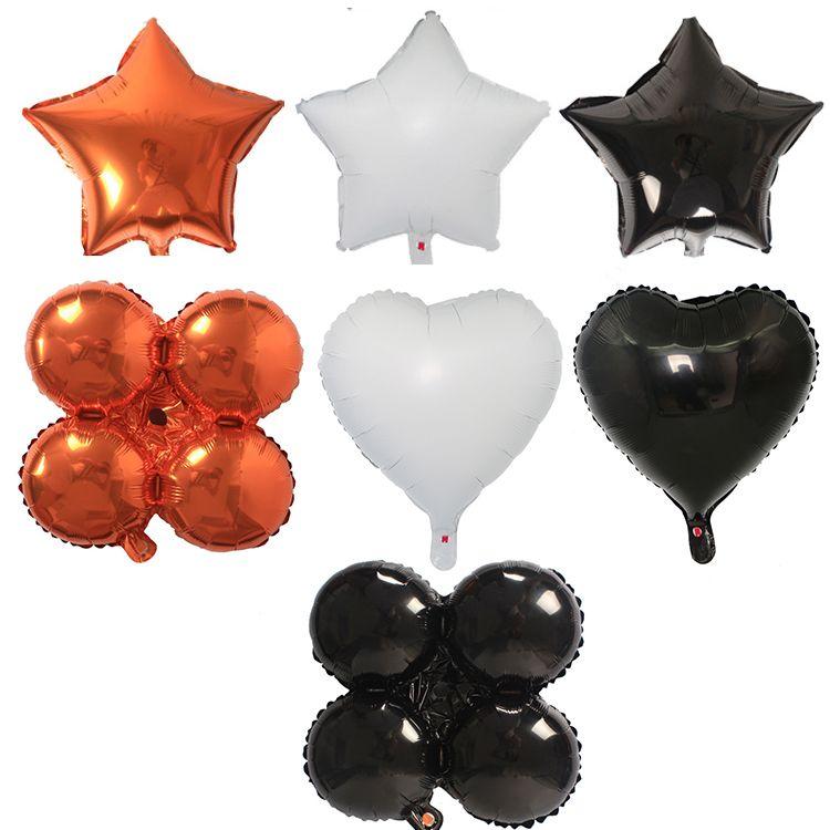 Halloween Balloon Festival 2020 2020 18inch Halloween Balloons Star Heart Aluminum Foil Balloon