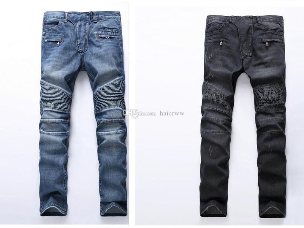 Beloved Mens Fashion Shorts Ripped Distressed Moto Biker Jeans Denim Shorts