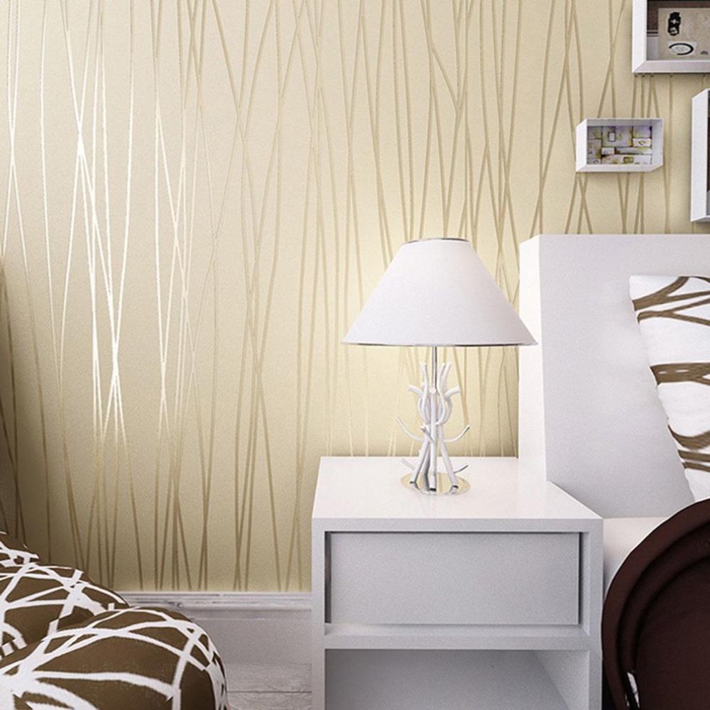 Papier Peint Pour Bureau acheter papier peint moderne de sentiment 3d pour le salon papier peint  rayé blanc et brun de rouleau de papier peint de bureau de 22,85 € du