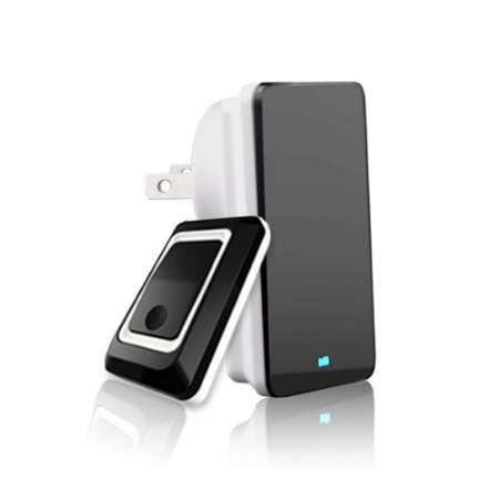 TS-K108W11 Black Simple Design Home Wireless Doorbell Adjustable Sound Volume Door Bell US/EU/UK Plug Wireless Door Bell