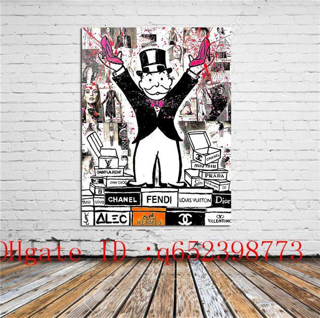 Alec Monopoly -92, 캔버스에 홈 데코레이션 된 현대 미술 그림 인쇄 (Unframed / Framed)