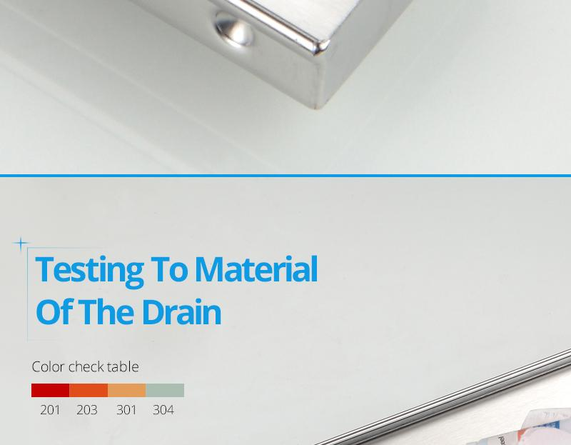 hm Odor-resistant Floor Drain Cover 60 80 100 120cm Rectangle SUS304 Stainless Steel Shower Grate Invisible Long Floor Drain (14)