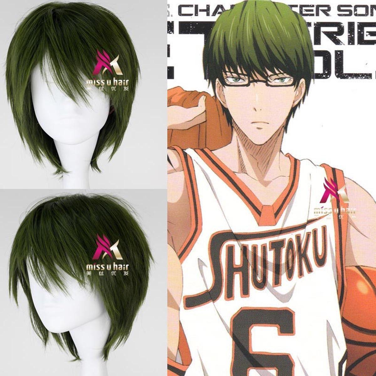Free shipping>>> Short Straight Dark Green Cosplay Wig