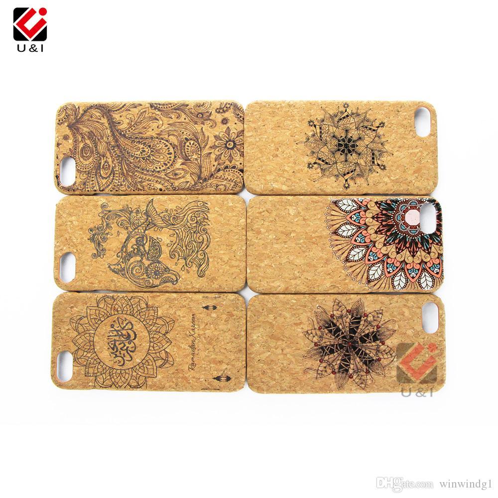 Eco-содружественный случай мобильного сотового телефона древесины пробочки Solf для iPhone 6 7 8 Плюс X XR XS Макс
