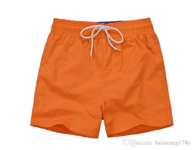 HOT 2018 Atacado-Quick Dry Mens Praia Shorts Marca Mens Shorts Casual Swimwear Trajes de banho dos homens Shorts Hip Hops Marca T-shirt Homens Clo