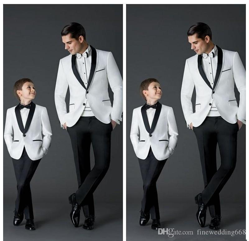 Custom Made New Fashion Groom Tuxedos Men's Wedding Dress Prom Suits Father And Boy Tuxedos (Jacket+Pants+Tie+Girdle) Formal Wear Tuxedos