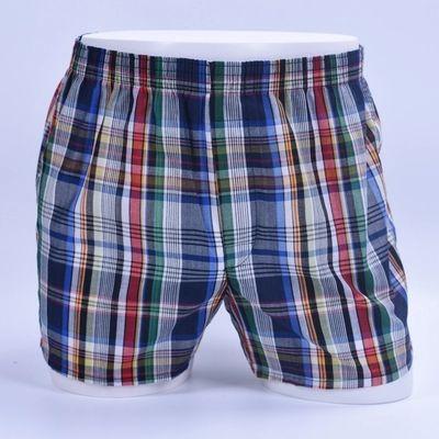 Flecha suelta Ropa interior de hombre Pantalones cortos ocasionales Calzoncillos Pantalones cortos de algodón 100% Homewear Ropa de dormir Rayas Boxeadores masculinos