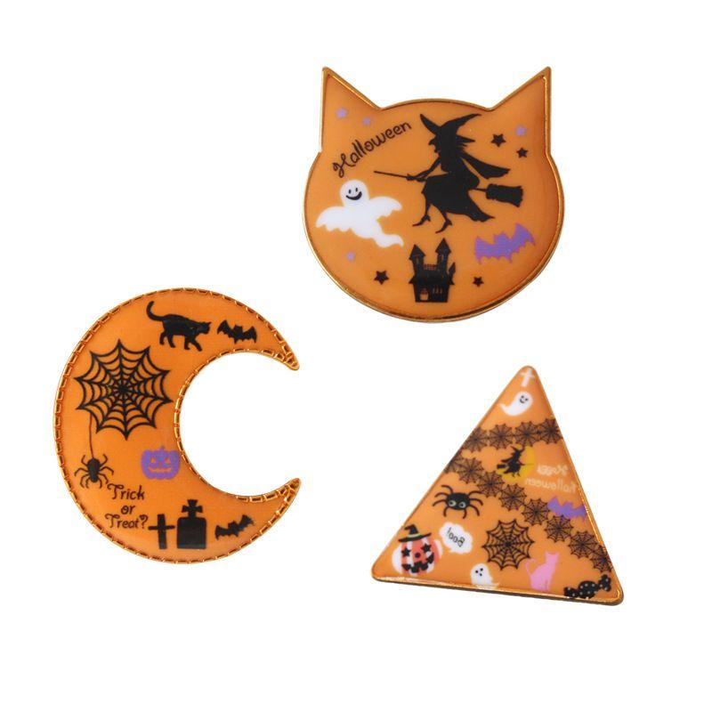 3*style Halloween ghost pumpkin MOON cat Gift Halloween Cartoon Brooch Gift Pin Brooches Pins Jewelry Brooches for Men Women
