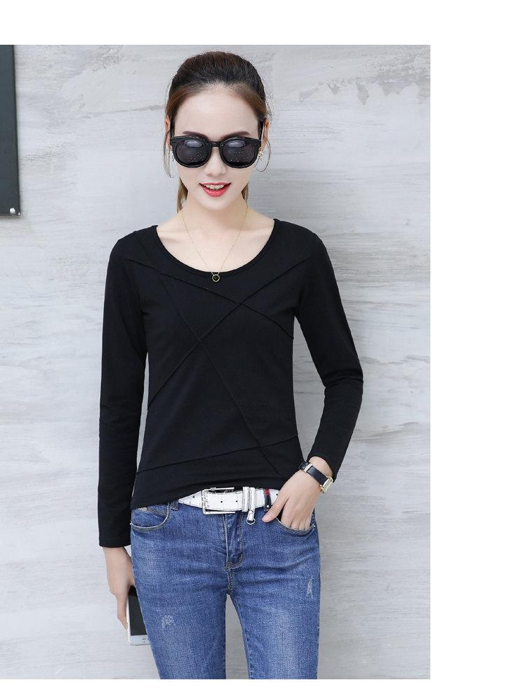 Plus Size Tshirt Women T-shirt Tee Tops Femme Autumn Long Sleeve T-shirts For Women 2019 Casual Cotton Tops Tees Camisetas Mujer (12)