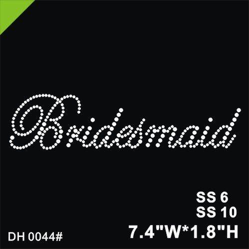 Free shipping Rhinestone Crystal Iron On T Shirt Design Transfer - Wedding Bridesmaid DIY DH0044#