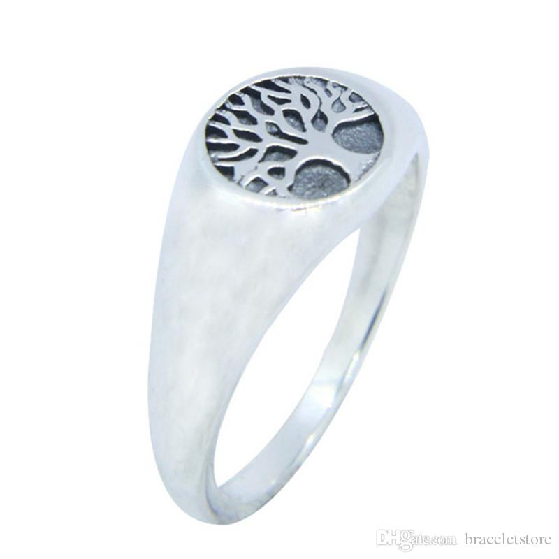Free Shipping Size 6-10 Lady Girls 925 Sterling Silver Ring Jewelry Newest S925 Top Quality Tree Ring