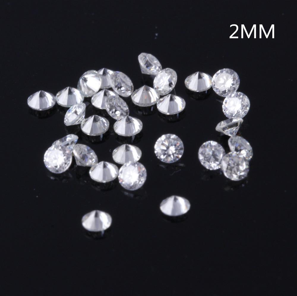 TransGems 2 mm = 0.035 quilates Total 1 CTW F Color certificado Laboratorio Grown Moissanite Diamond Prueba de cuentas sueltas Positivo S923