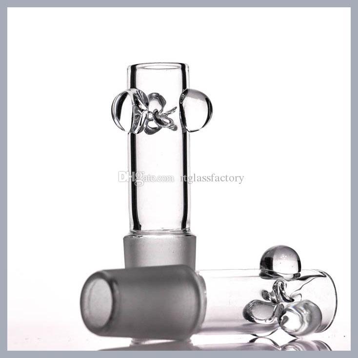 물 담뱃대 두꺼운 2mm 직선 그릇 도매 새로운 디자인 유리 18mm 맞는 여성의 물 파이프 봉탄 2.5
