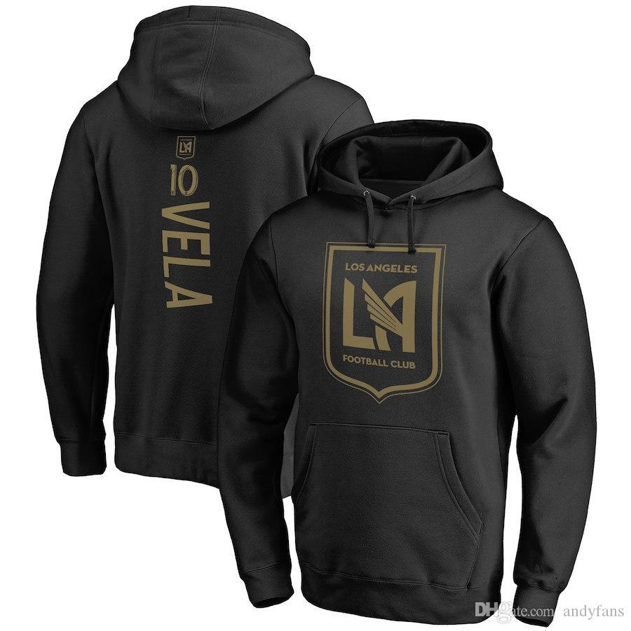 2018 MLS LAFC MERCHANDISE Coccer Kapuzenpullis Vela Rossi Omar Gaber Laurent Ciman Walker Zimmerman benutzerdefinierten Namen und Nummer Mann Sweatshirt