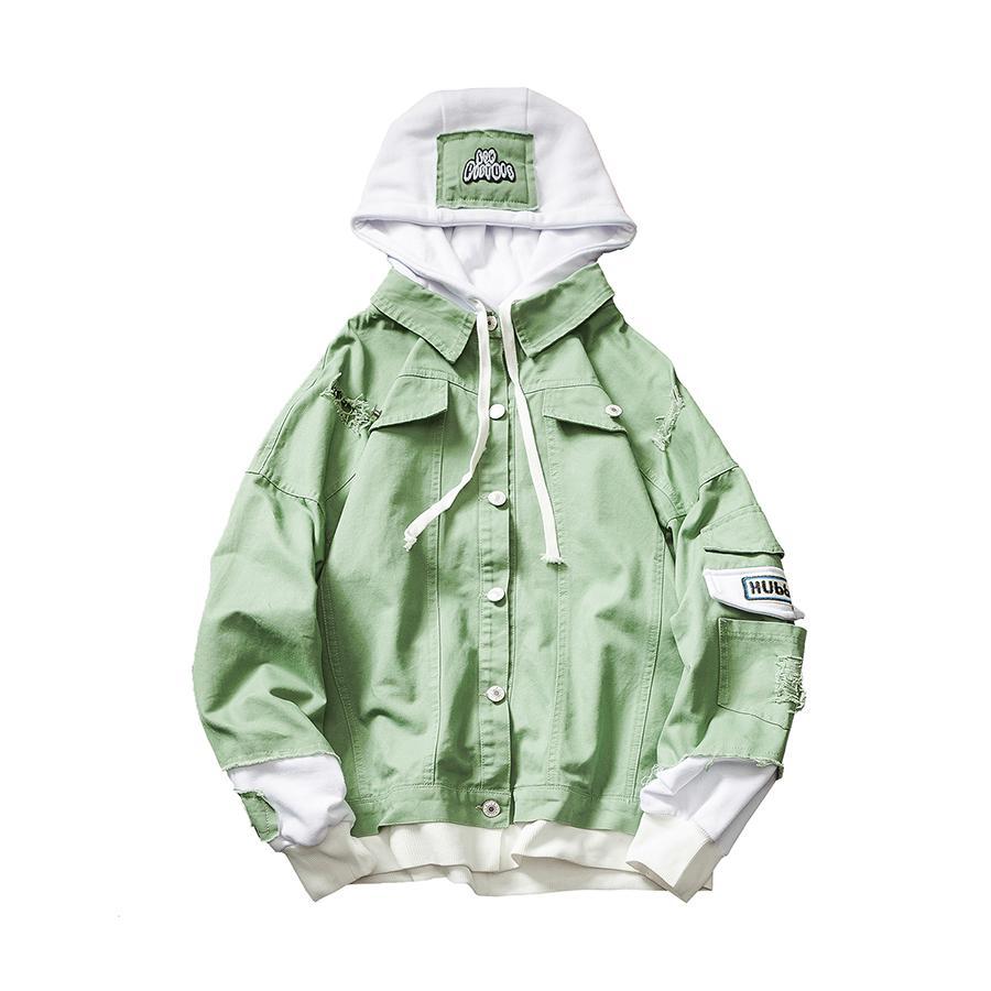 Patchwork Spring Jacket Men Casual Hooded Men Fashions Bomber Jacket Mont Ceket Streetwear Hip Hop Mens Jackets Harajuku 6J0024