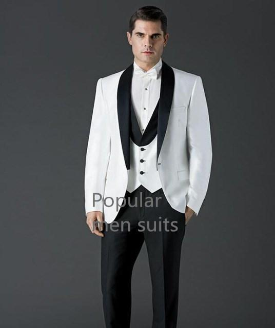 2018 formal novio padrinos de esmoquin mantón de la solapa de tres bolsillos del ajustado de negocio ropa de noche de baile 2 Piezas (Jacket + Pants + tie)