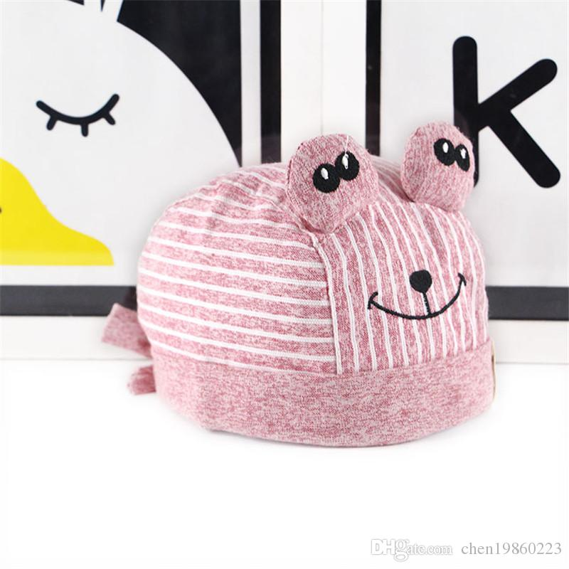 2019 autumn new pirate hat baby hat Korean version of cotton men and women tide baby hat children striped scarf cap
