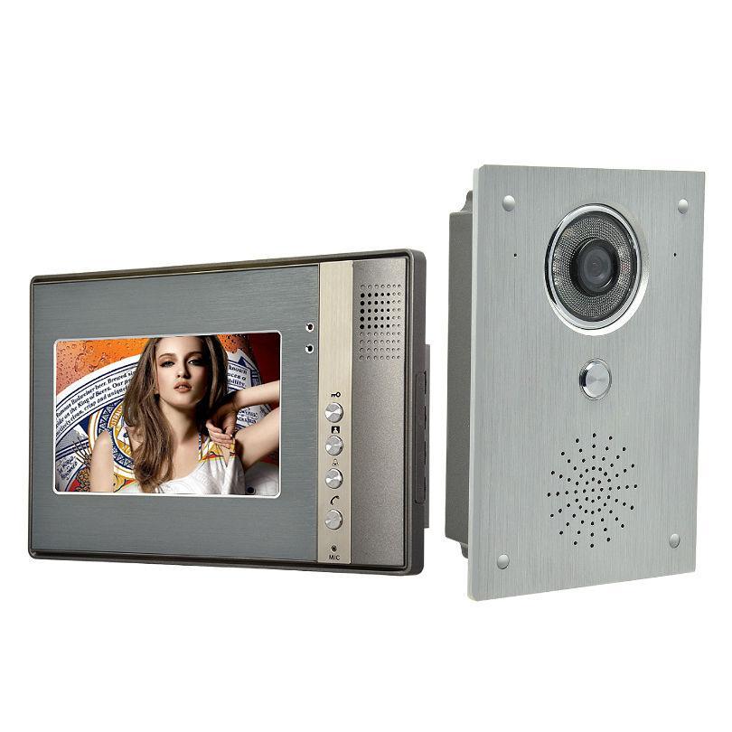7 Inch Video Door Phone Doorbell Intercom system video doorbell interphone kits