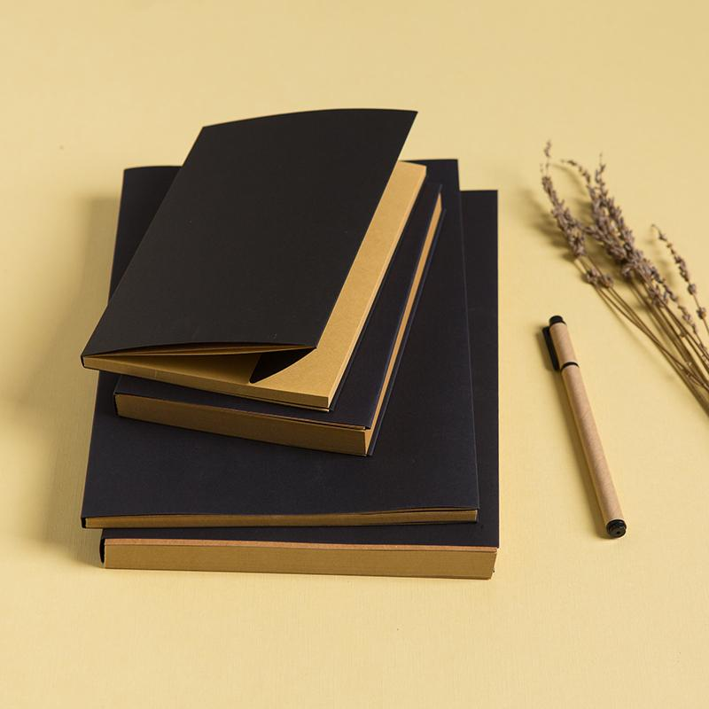 32K Brown Kraft Cover Sketchbook//Journal//Diary//Note Book With Blank Kraft Paper 116 pages