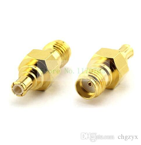 10 piezas SMA hembra de oro JACK a MCX conector de conector macho SMA a MCX