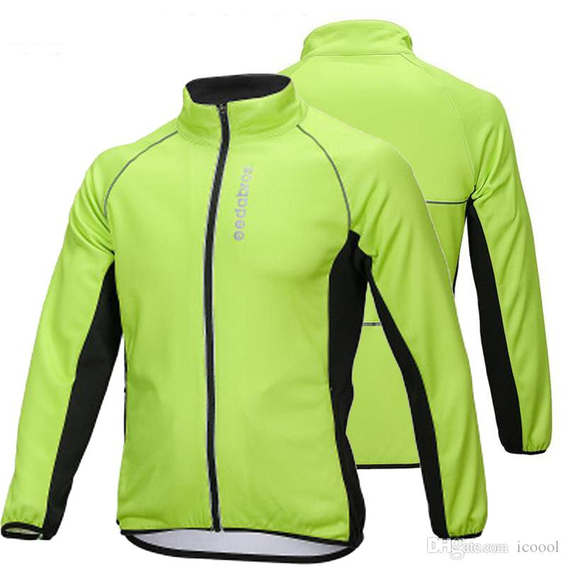 Winter Fleece Thermal Men Cycling Jacket Windproof Bicycle Coat Warm Jersey Tops