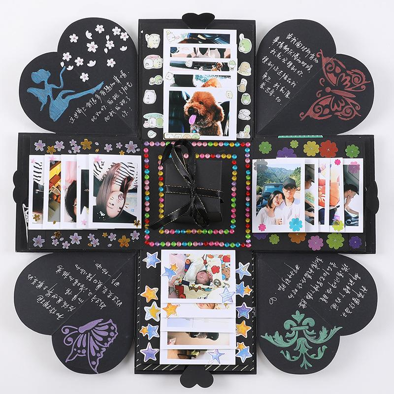 1Pcs / серия Взрыв Box Scrapbooking DIY Фото для день свадьбы Box День рождения Suprise фестиваля Валентина Подарки