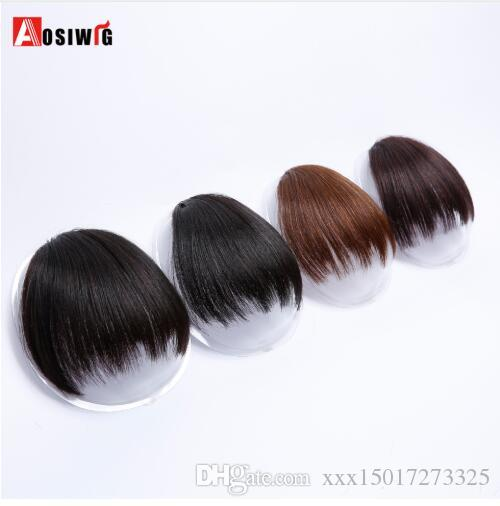 Short Fake Hair Bangs Heat Resistant Synthetic Hairpieces Clip In Hairs Extensions for Women Bang Hairstyles