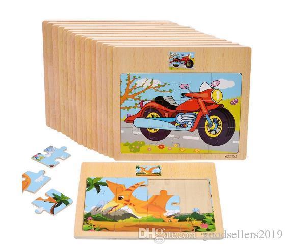Bébé En Bois Puzzle Trafic Et Animal Puzzle Jouet Éducatif Jouet De Formation De Bébé Jigsaw Enfants Jouet Cadeaux