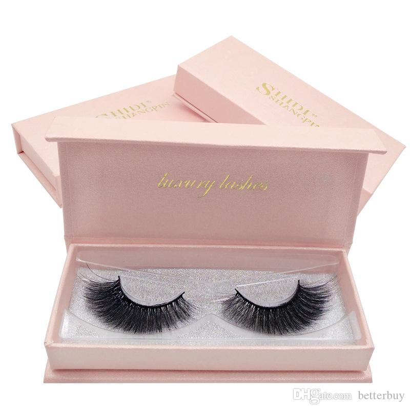 2 pairs/box False Eyelashes 3D Mink Lashes Pink Box Thick Makeup Eyelashes For Eyelash Extension Top Quality