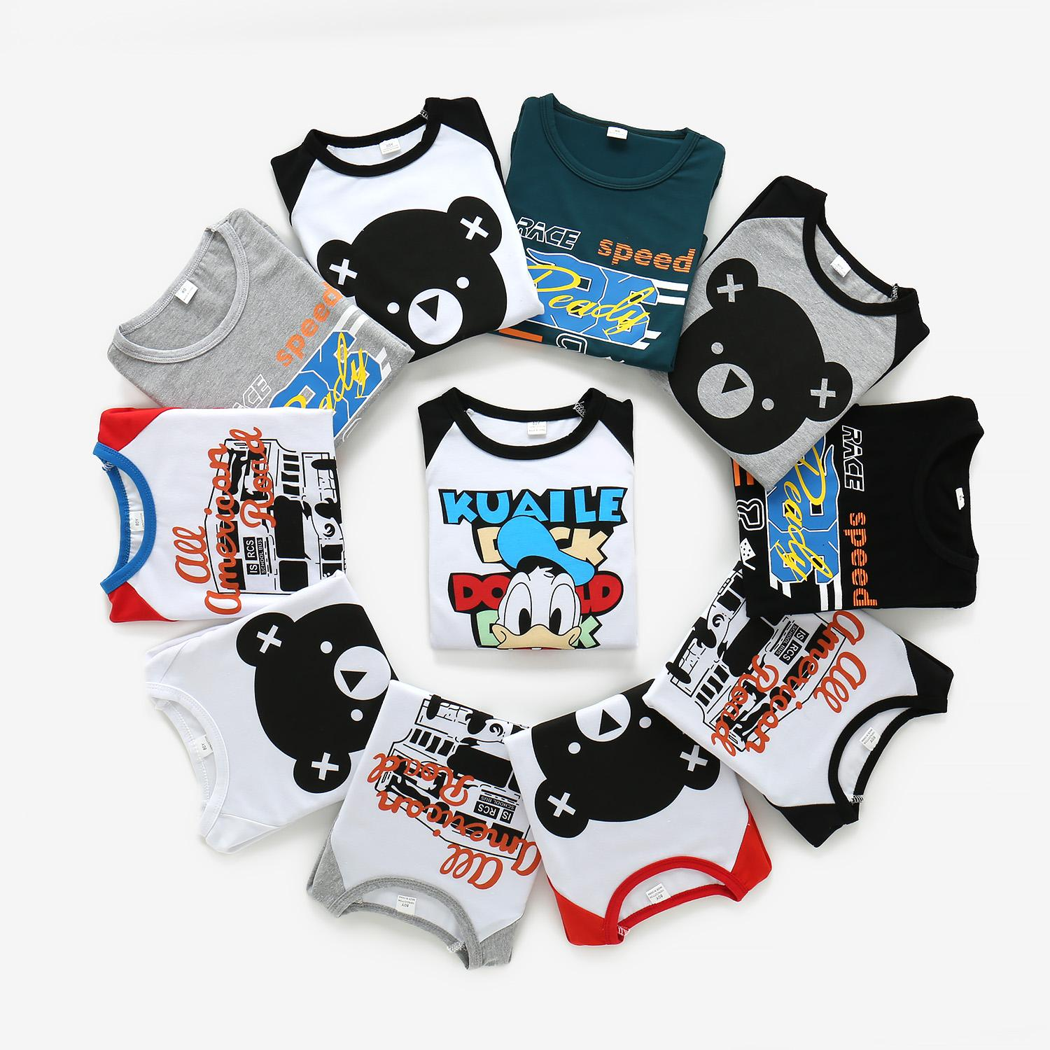 Toddler Kids Baby Boys Girls Panda Print Tops+Pants Overalls Outfit Clothes