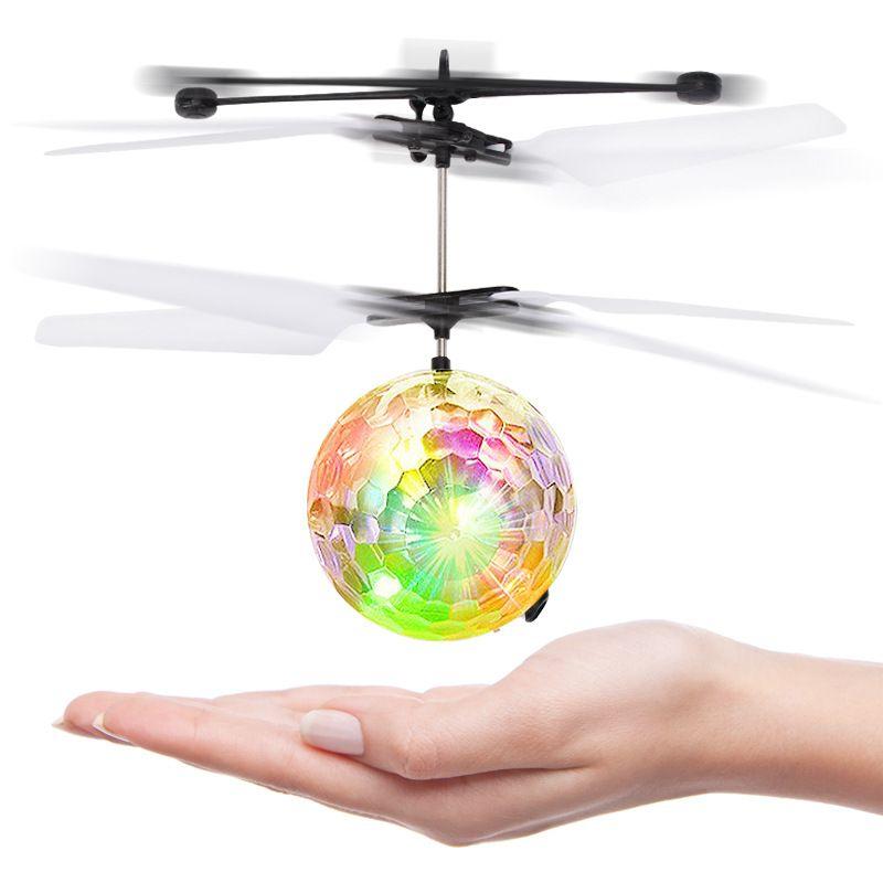 Cabina nocturna avión de inducción cuadrado colorido linterna vuelo eléctrico UFO cargando mini bola de cristal modelo