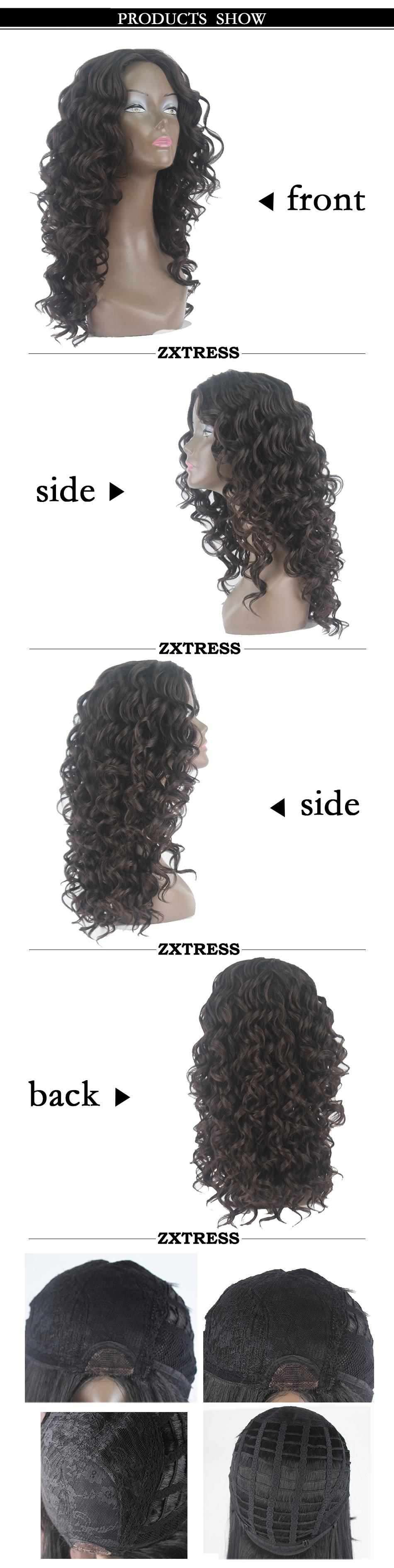 Top Sale Kinky Loose Curly Wigs Synthetic Lace Wigs With Full Bangs Heat Resistant Glueless Wigs For Afro African American Black Women 22