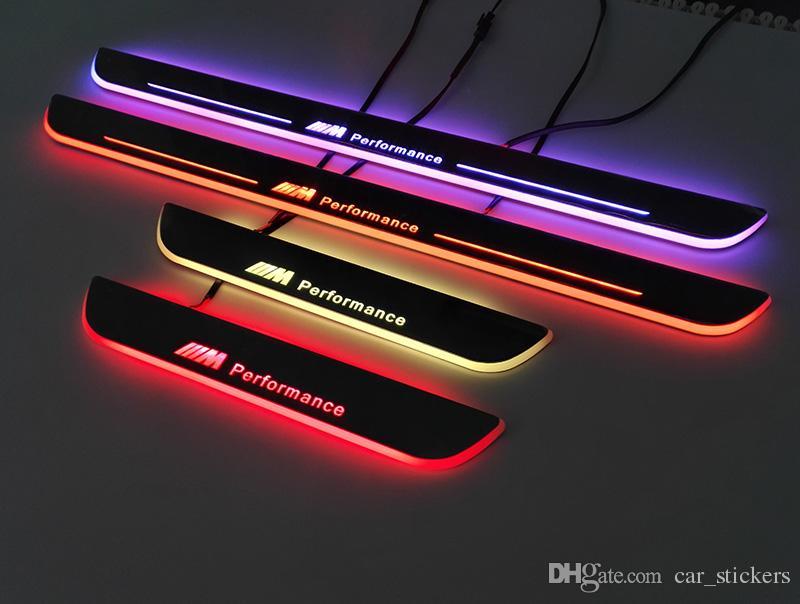 Bmw 일반적인 사용 다채로운 자동차 LED 도어 씰 플레이트 환영 e36 e39 e46 x1 x3 x5 x6에 대 한 스타일링 페달 자동차 M3 M5