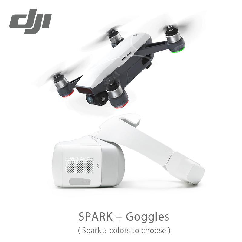 الجديد في سوق الأسهم DJI Spark / Spark Fly More Combo Drone / Drones with Goggle / Goggels Pocket Selfie Drone WiFi FPV مع كاميرا 12MP