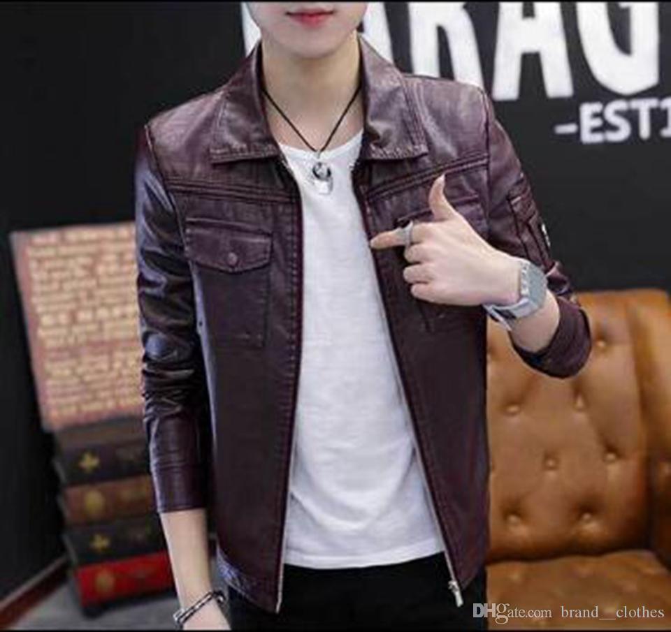 Mode automne et hiver européenne nouvelle tendance européenne version coréenne de manteau de fourrure de moto confortable jeunes hommes / L-3XL