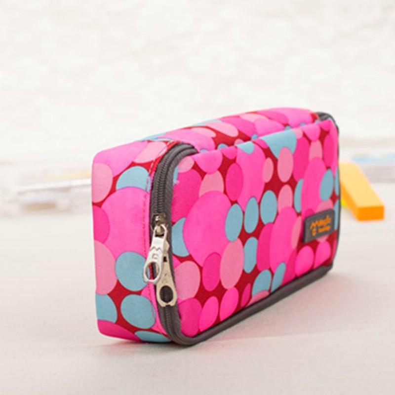 Big Capacity Oxford Cloth Pencil Case Pencil Bag Multifunctional Colored Bubble Stationery Storage Organizer Bag Pouch Pen Cases