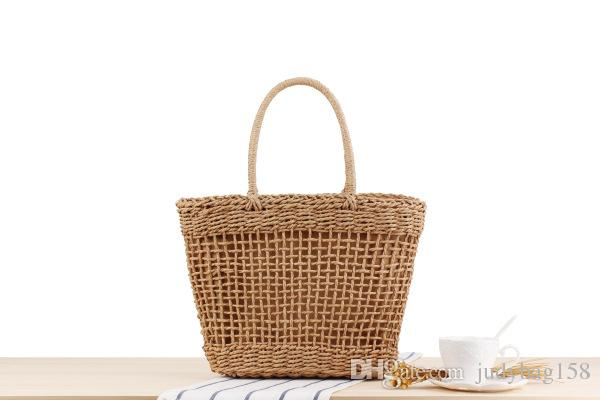Factory direct ins super fire portable new hollow woven bag holiday travel basket tide personality straw bag