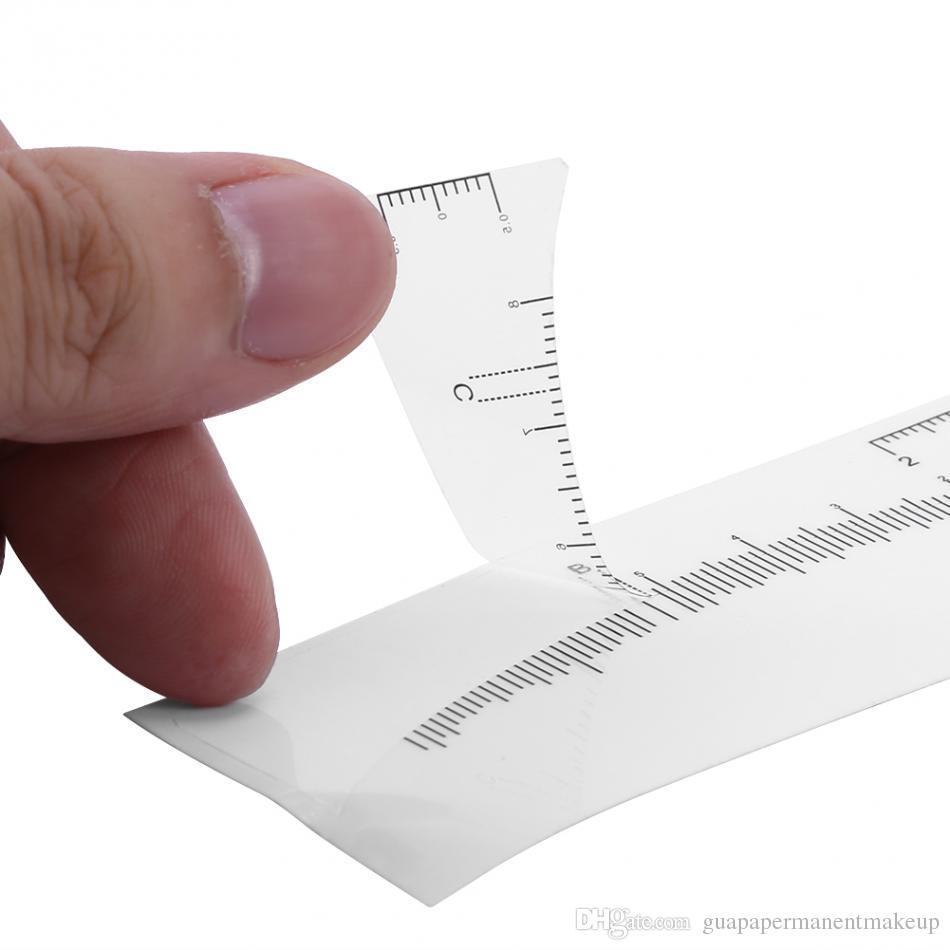 100 قطع microblading المتاح المتاح حاكم دائم ماكياج دائم tebori الحاجب تشكيل أدوات الوشم قياس الحكام ملصقا