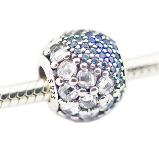 Pandora Bilezik Charms için uyar Gümüş 925 Orijinal Boncuk Takı Yapımı için Mavi Enchanted Açacağı Charm Takı Toptan 2017 bahar