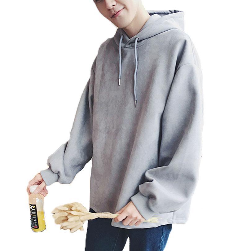 Offizielle Website zum halben Preis am besten verkaufen Großhandel Hoodies Männer Korean Solid Oversize Hoodies Männer Hip Hop  Streetwear Lose Beiläufige Pullover Männer Hoodie Mit Kapuze Sweatshirt  Mantel ...