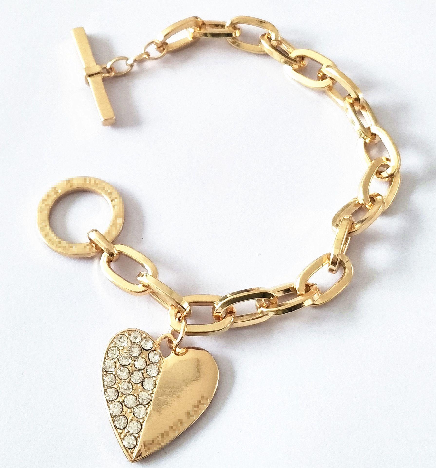 4f08cfcae56d Compre ¡¡¡gran Venta!!! Marca Pulsera De Cadena Pulsera En Forma De Corazón  Colgante Pulseras Oro Plata Rosa Oro Pulseras De Acero ...