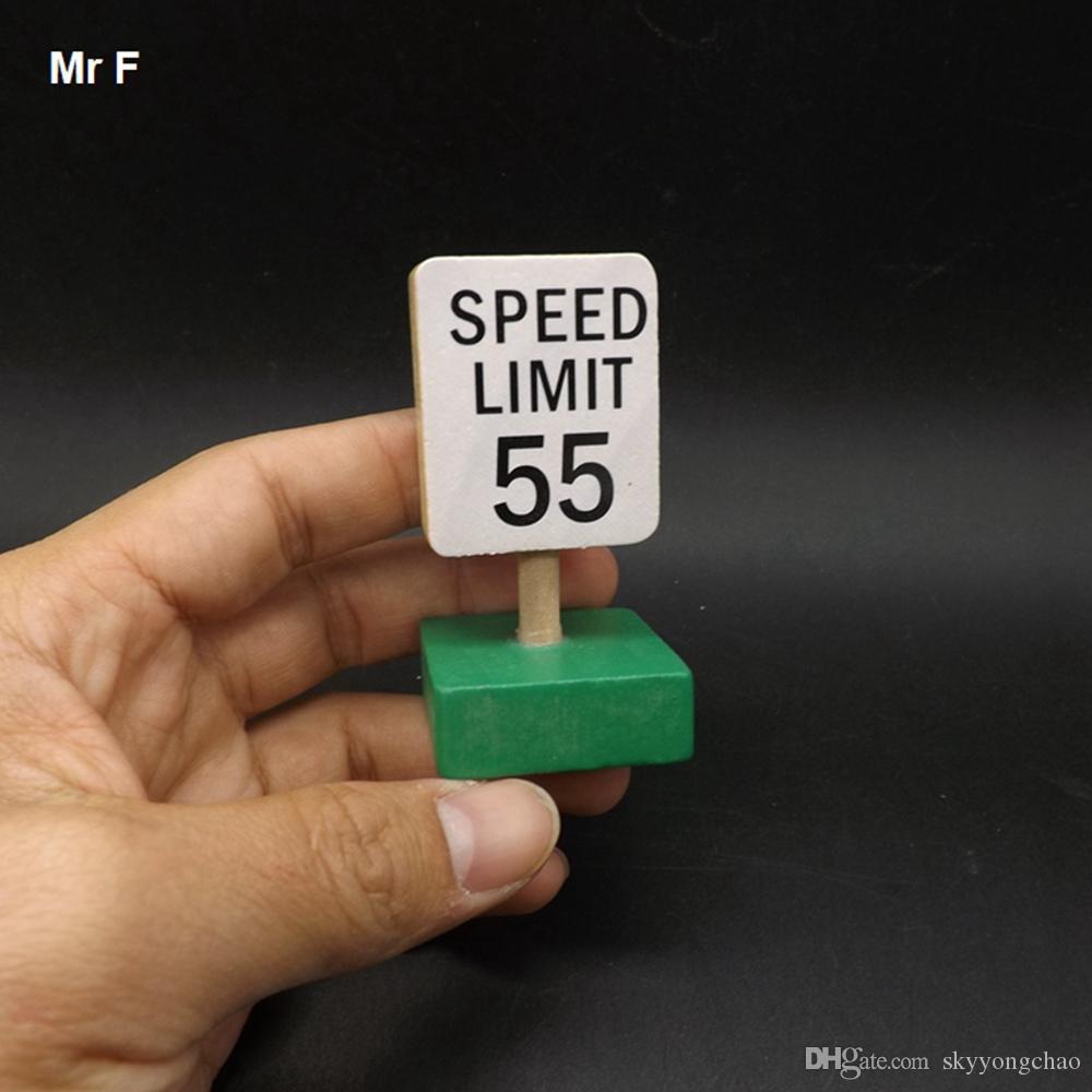 Crianças Presente Aviso Limite de 55 Sinal de Velocidade de Ensino De Madeira De Madeira Brinquedos Educativos Modelo de Tráfego Brinquedo Mini Veículo de Ensino Prop Brinquedo de Presente