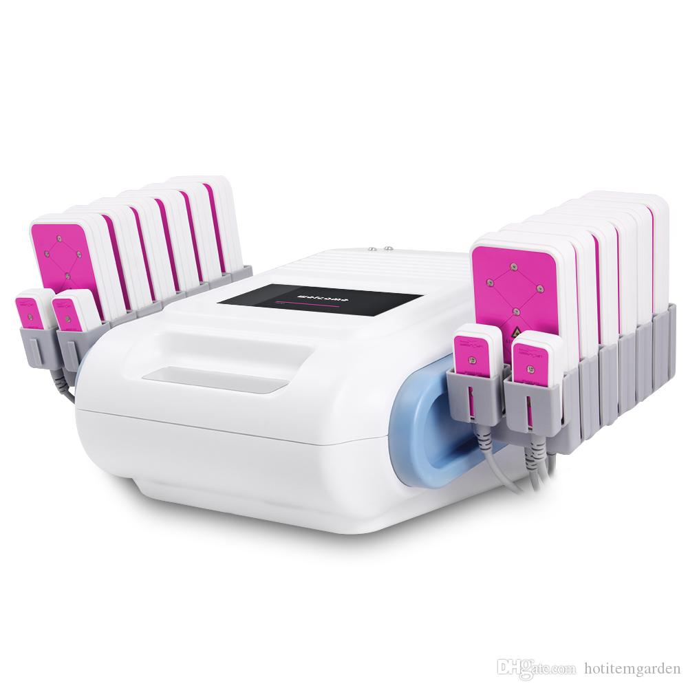New LLLT 12 Big+4 Small Pads Fat Loss 635nm ~650nm Cellulite Reduction 5mw lipo laser Slimming Equipment