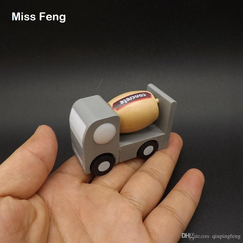 Mini modèles de voiture en béton simuler camion en bois petites roues véhicule jouets cadeaux pour enfants enseignement enseignement jouet cadeau