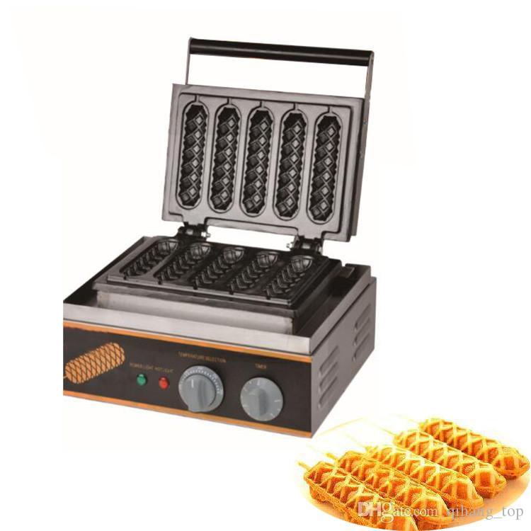 máquina de procesamiento de alimento del fabricante del palo de la galleta de perro caliente comercial / perro caliente palo de polo de la galleta que hace la máquina