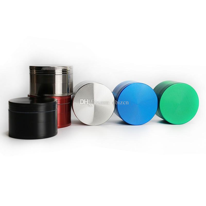 Ot Değirmeni Tütün Spice Crushe 50 MM CNC Diş 4 Parçaları Sigara Çinko Alaşım Metal 6 Renkler