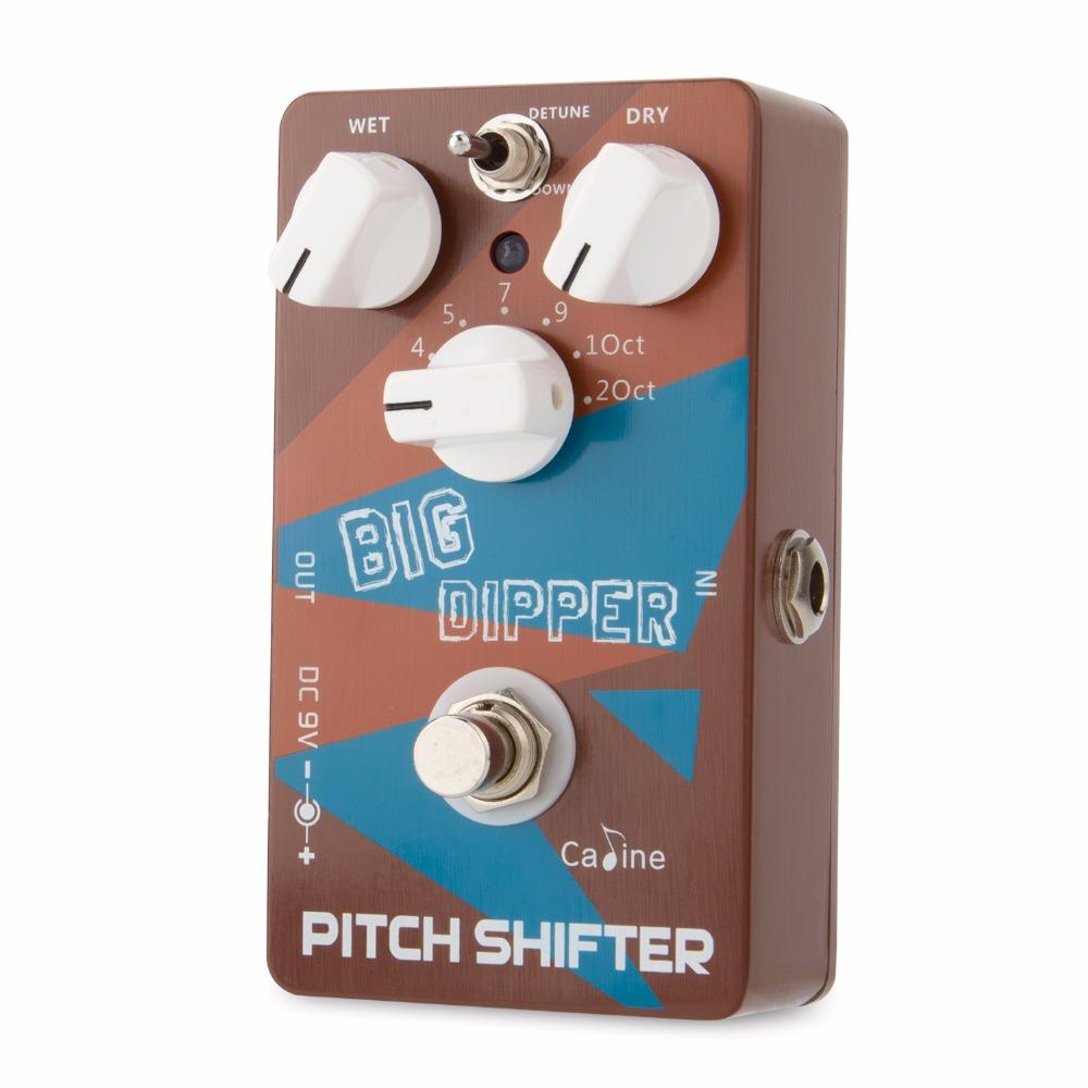Caline CP-36 Pitch Shifiter Guitar Effect Pedal Big Dipper Pedal wet and dry knobs blend the original and new harmonic signal
