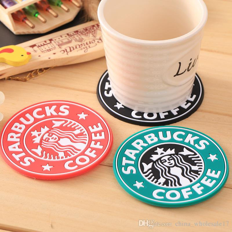 2019 Silicone Dining Table Placemats Coaster Coffee Cups Drinks Kitchen Accessories Mat Cup Bar Mug Placemats Coaster Mats&Pads From