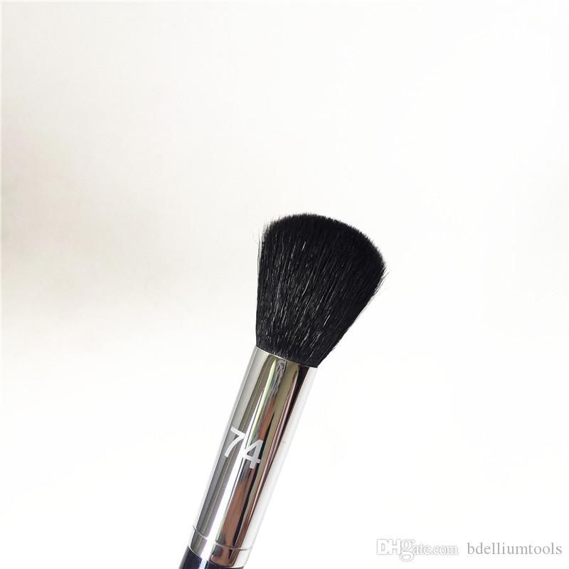 Pro Small Blush Brush # 74 -Goat Hair Round Flat Contouring Highlighting Sculpting brush - Beauty Makeup Blender Tool